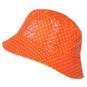 Bob vinyle orange à pois
