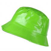 Bob vinyle uni vert aspect ciré