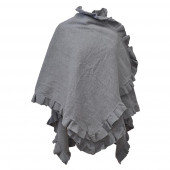 Poncho cape Butterfly, gris