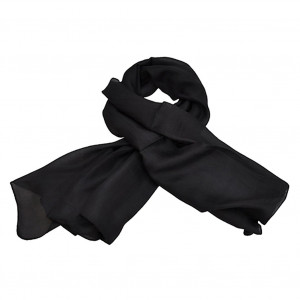 Foulard carré en soie, Noir