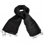 Foulard en soie sauvage noir