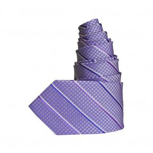 Cravate Croisillon mauve