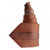 Cravate en soie marron à motifs