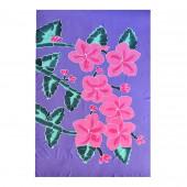 Paréo batik fleurs fushia