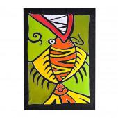 Paréo batik poisson Art Déco
