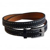 Bracelet en cuir marine