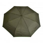 Parapluie kaki, liseré vert anis