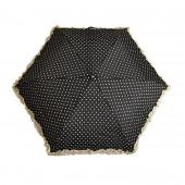 Parapluie « stylo » froufrous noir à coeœurs crèmes