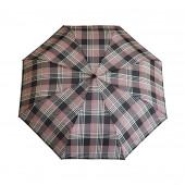 Parapluie écossais noir/rose poudrée