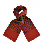 Foulard Carven rouge brique