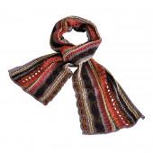 Echarpe multicolore esprit crochet