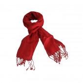 Echarpe en lin de couleur rouge