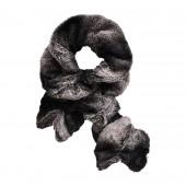 Boa fourrure élastiqué, noir irisé