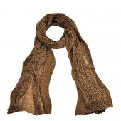Echarpe léopard, marron