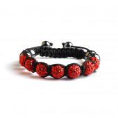 Shamballa 7 Perles - Rouge