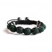 Shamballa 7 Perles - Vert Emeraude