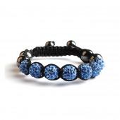 Shamballa 7 Perles - Bleu clair
