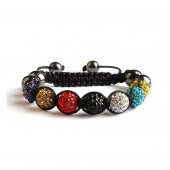 Shamballa 7 Perles - Multicolore