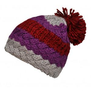 Bonnet tricolore prune