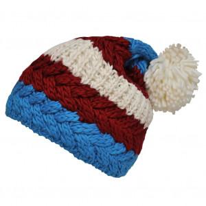 Bonnet tricolore bordeaux