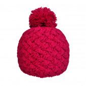 Bonnet tricot uni fushia
