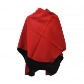 Poncho Sable rouge arrondi