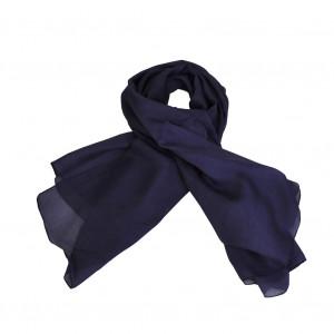 Foulard carré en soie, Bleu