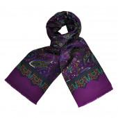 Foulard Carven Violet Paisley