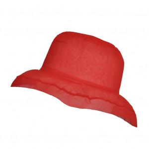 Chapeau Organza, Rouge