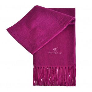 Echarpe en alpaga violette