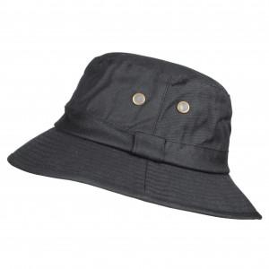 Chapeau de pluie en coton huilé noir taille 58