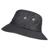 Chapeau de pluie en coton huilé noir taille 56