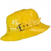 Chapeau de pluie à boucle uni, réglable,  de couleur jaune, Aspect ciré