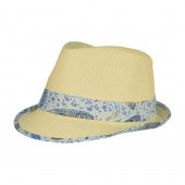 Chapeau Copacabana, panama à Bande Paisley Bleu